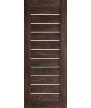 Дверь из экошпона Техно 12 Шале мореный (белое стекло)