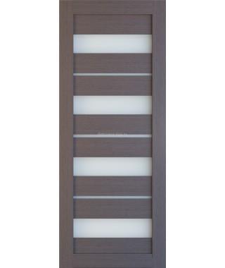 Дверь из экошпона Техно 15 Дуб серый (белое стекло)