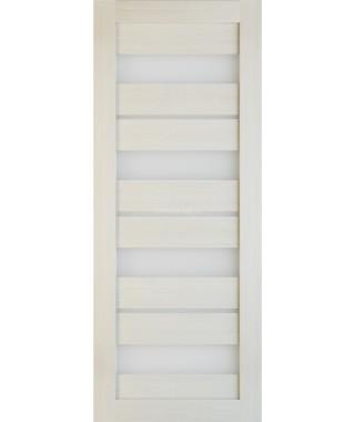 Дверь из экошпона Техно 15 Лиственница (белое стекло)