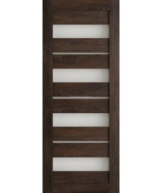 Дверь из экошпона Техно 15 Шале мореный (белое стекло)