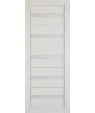 Дверь из экошпона Техно 5 Лиственница (белое стекло)