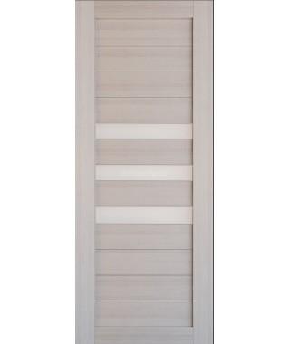 Дверь из экошпона Техно 7 Капучино (белое стекло)