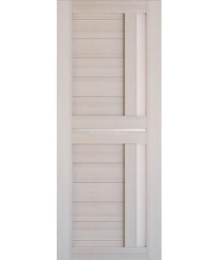 Дверь из экошпона Техно 9 Капучино (белое стекло)