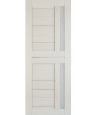 Дверь из экошпона Техно 9 Лиственница (белое стекло)