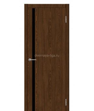 Дверь с ПВХ покрытием Лайт 1 (Орех)