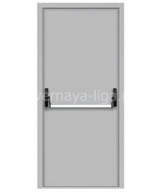 Дверь стальная противопожарная ДПМ-01 (EI-30 EI-60) RAL 7035 ручка Антипаника