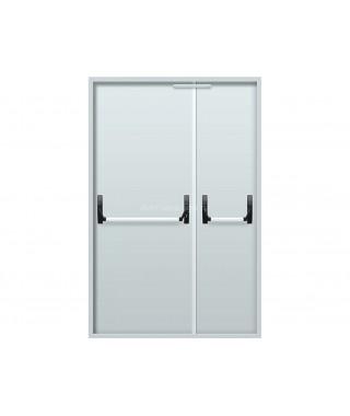 Дверь стальная противопожарная ДПМ-02(EI-30 EI-60) RAL 7035 ручка Антипаника