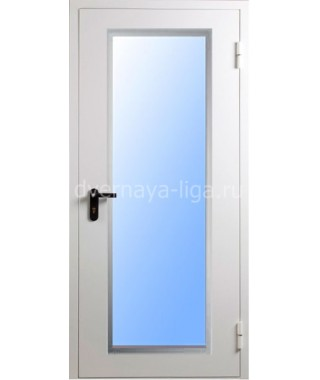 Дверь стальная противопожарная ДПМО-01(EIW-30,EIW-60) RAL 7035