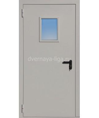 Дверь стальная противопожарная ДПМО-01 (EI-30 EI-60) RAL 7035
