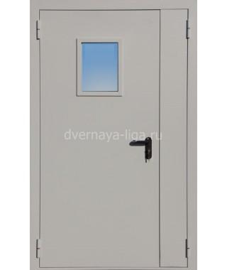 Дверь стальная противопожарная ДПМО-02 (EI30 EI-60) RAL 7035