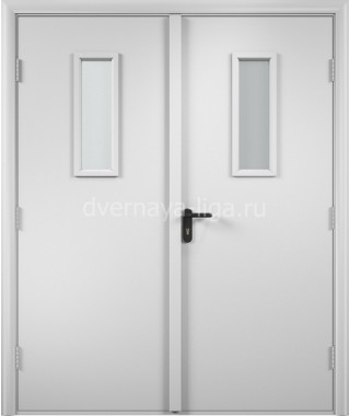 Дверь деревянная противопожарная ДПДО-02 EI-30 (Белая)